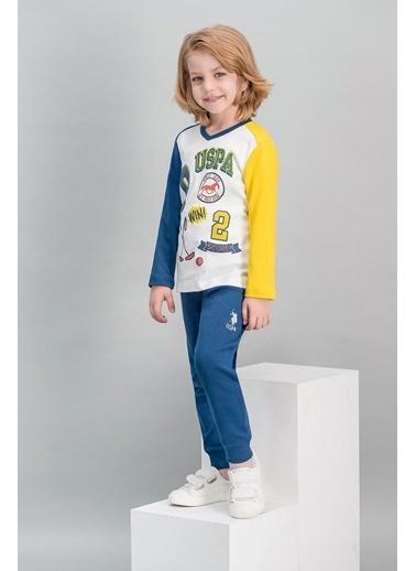 U.S. Polo Assn. U.S. Polo Assn Lisanslı Krem Erkek Çocuk Pijama Takımı Krem